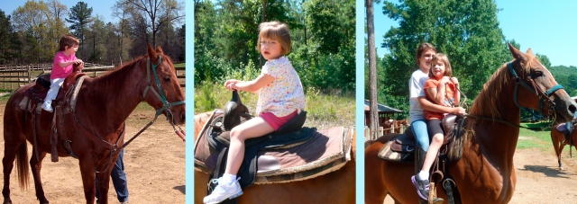 KB on a horse